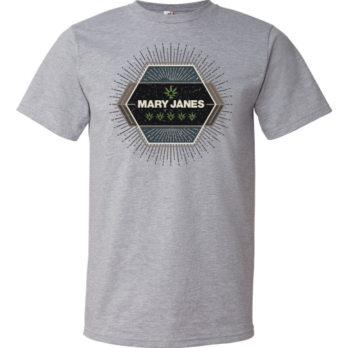 MJF Geometric Design Crew - Heather Grey