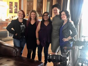 From Left to Right: Ah Warner, Leah Maurer, Madeline Martinez, Sara Batterby with Director Windy Borman. (Photo Credit: Leah Maurer)