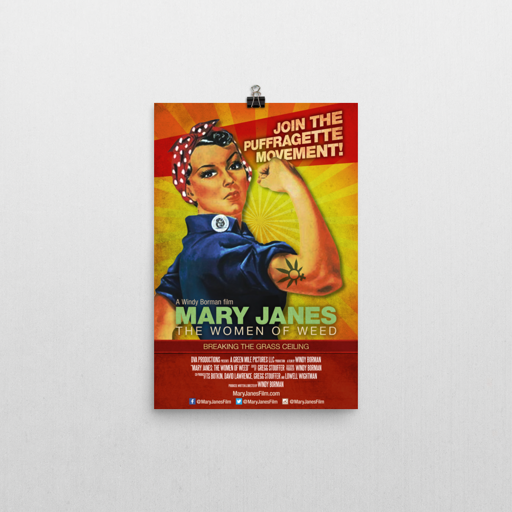 mary janes - women of weed poster